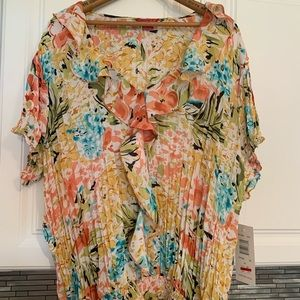 Colorful floral blouse